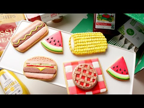 How To Decorate SUMMER COOKOUT COOKIES!