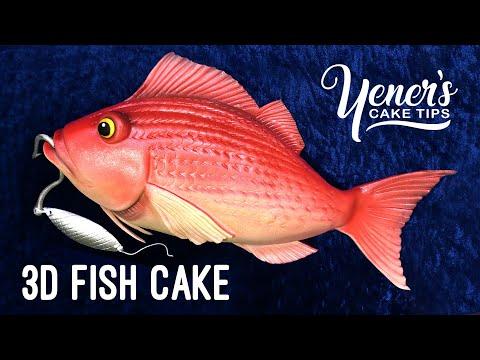 3D FISH CAKE Tutorial | Yeners Cake Tips With Serdar Yener From Yeners Way