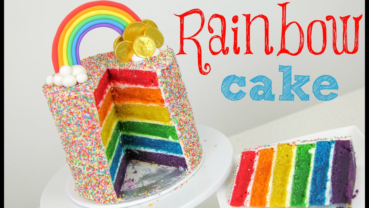 Rainbow Cake Tutorial - CAKE STYLE - YouTube