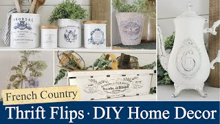 Thrift Flips • French Country Style • Small Home Decor • IOD products • Easy DIYs