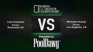 Hot seat match! Lisa Cosette VS Melinda Huang - 2018 Women