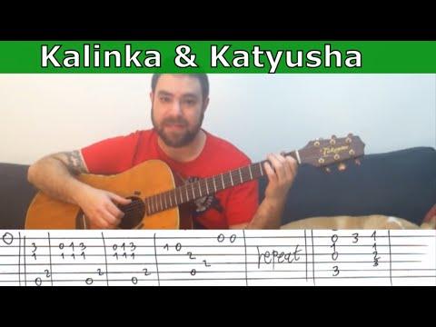 Tutorial: Kalinka & Katyusha - Guitar Lesson w/ TAB