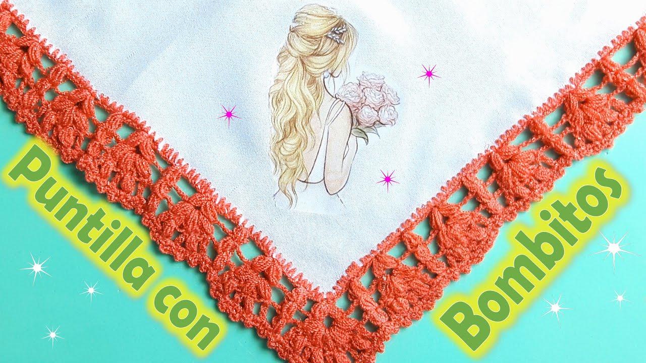 Puntilla con Bombitos a Crochet + Bodoque + Rápida y fácil