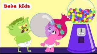 Troll Bebe's Family - Candy Area Colors - Blowing Interesting Balls - Funny Stories & Nursery Rhymes