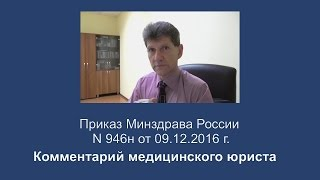видео Приказ Минздравсоцразвития РФ от 01.06.2009г. №290н
