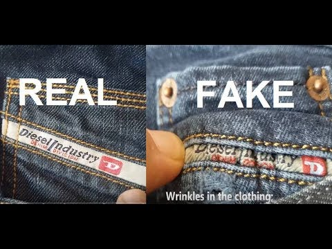 0a520058 Real vs fake Diesel Jeans. How to spot fake Diesel - YouTube