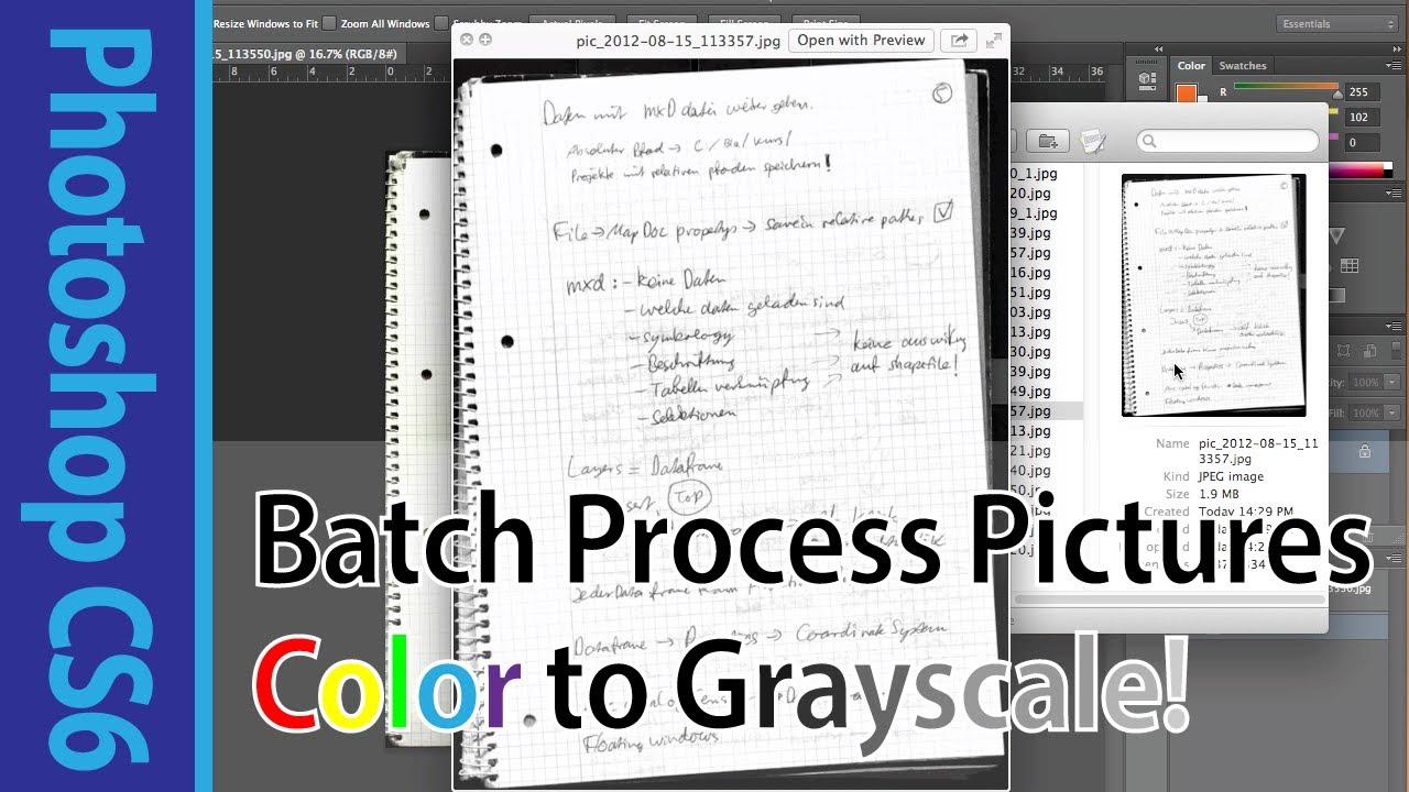 Photoshop CS6 Tutorial on Batch Image Processing (Convert