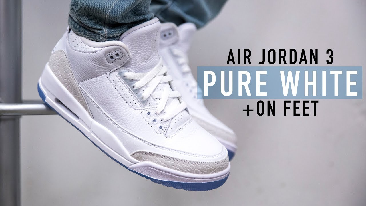 quality design 91c7f 15022 FIRST LOOK: Air Jordan 3 'Pure White' + On feet | SHIEKH