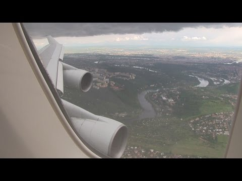 Korean Air B747 Landing Prague