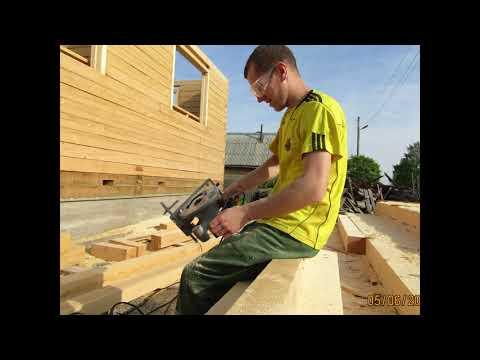 Как построить дом из бруса своими руками с мансардой
