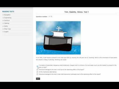 Online Marine Tests