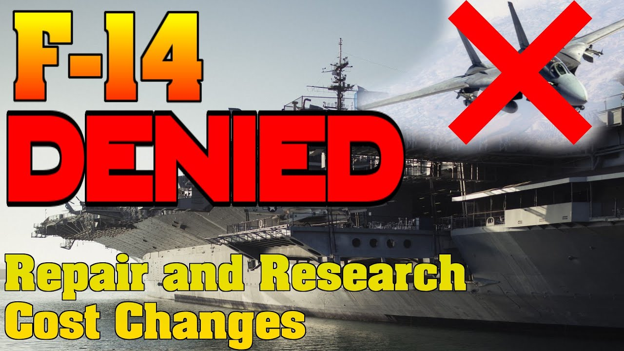 No F-14 Tomcat... Maybe! Also Repair and Research Cost Changes - War Thunder Weekly News