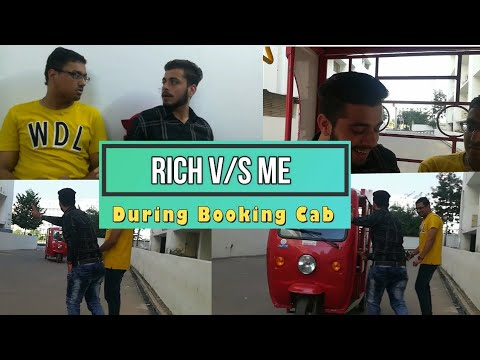 Rich v/s Me - During Booking Cab | Funny Video | PBVB
