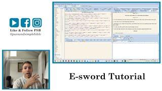 E-sword Tutorial