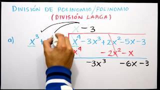 Algebra: División de polinomio entre polinomio
