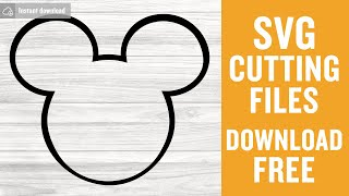 Mickey Head Outline Svg Free Cutting Files for Silhouette Free Download