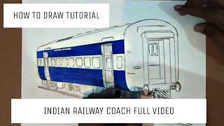 #traindrawings #howtodraw  HOW TO DRAW TRAIN COACH | ARTIST MUNDA