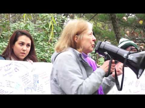 Wellesley College Students unite with Babson College Students in peaceful demonstration