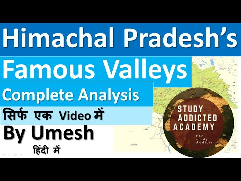 Famous Valleys of Himachal Pradesh,MCQ's
