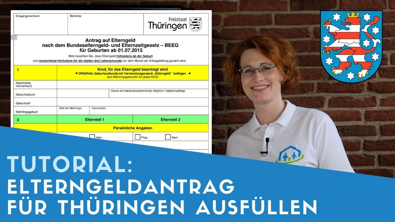 ▶ Elterngeldantrag für Thüringen ausfüllen + Tipps