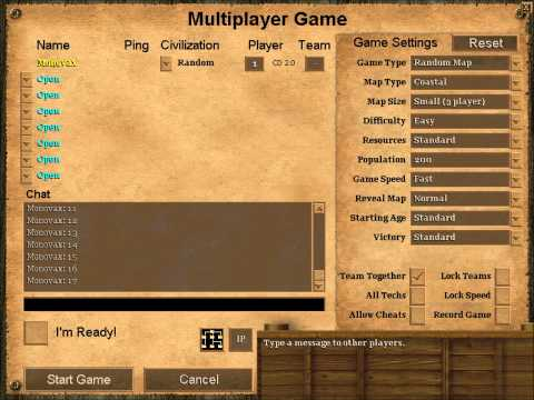 Age Of Empires II Chat Sounds
