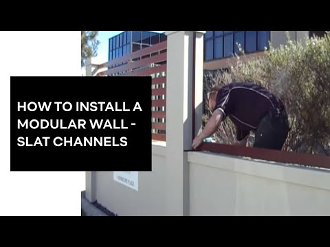 Modular Wall Systems Slat Channel Installation Www