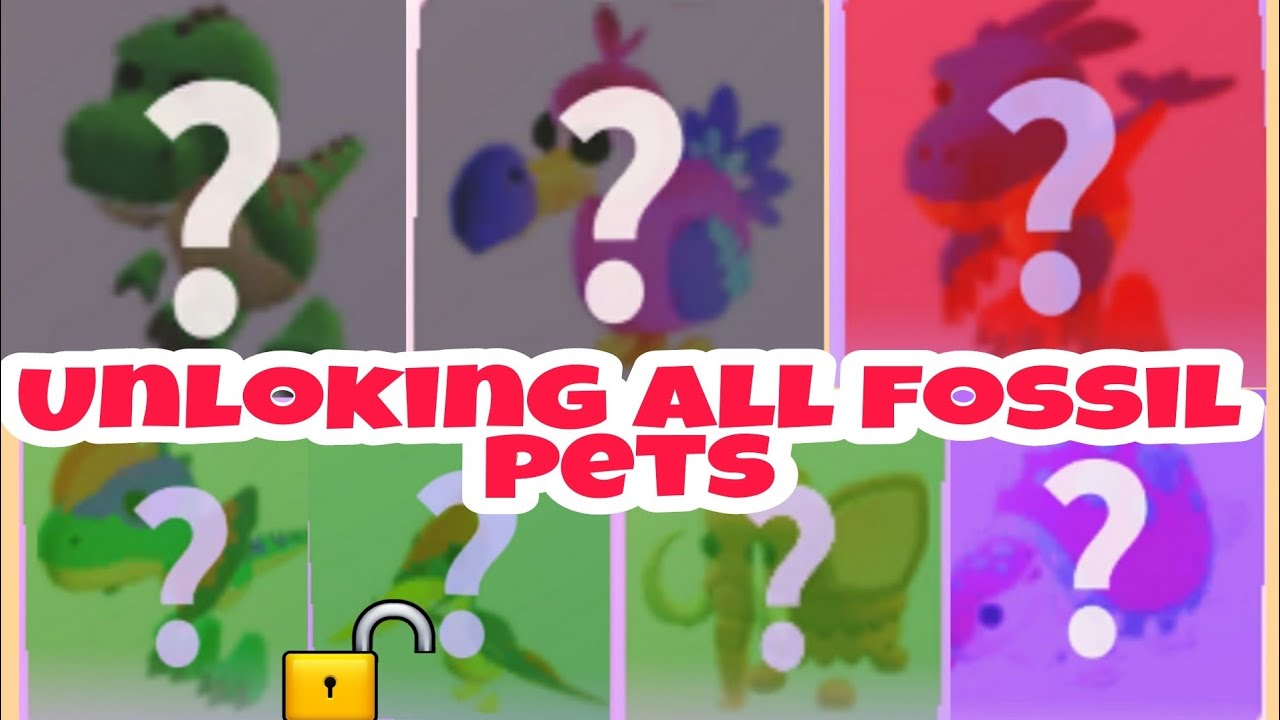 All The Pets In Fossil Eggs Update Unlocked In Adopt Me Youtube