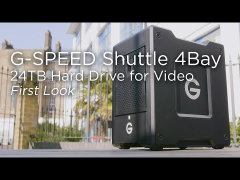 G-SPEED Shuttle 4Bay | 24TB Hard Drive for Creatives