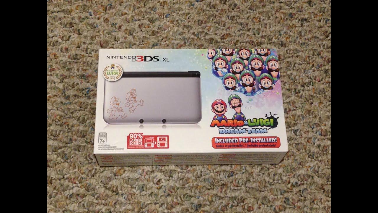 Nintendo 3ds Xl Mario Luigi Dream Team Bundle Unboxing Youtube