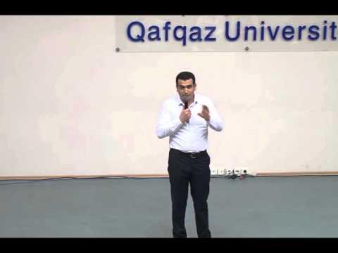 Araz Əhmədov - Məsuliyyət, Qafqaz Universiteti. Gələcəyini Qur Layihəsi