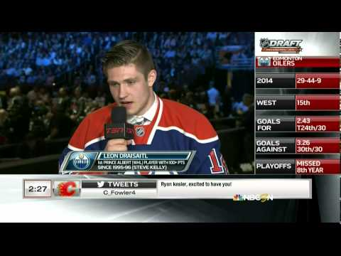 2014 NHL Hockey draft from Philadelphia PA. 1st Round, 1-5 picks. Aaron Ekblad #1