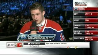 2014 NHL Hockey draft from Philadelphia PA. 1st Round, 1-5 picks. Aaron Ekblad #1