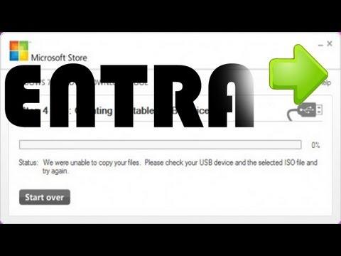 Solucion al Error de Windows 7 USB/DVD Download Tool [Marzo 2015]