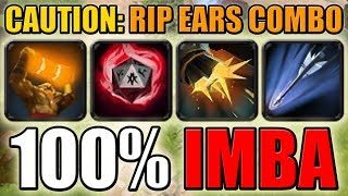 Impossible skill combo [One Shot Enchant Totem with Flak Cannon - R.I.P Ears] Dota 2 Ability Draft