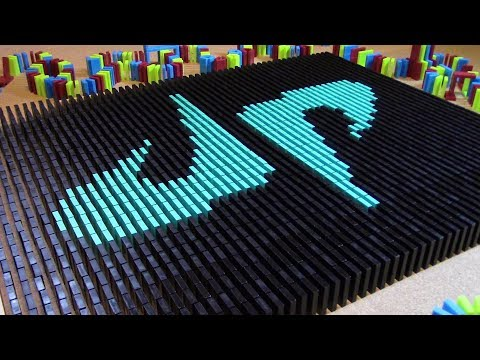 Thumbnail: DUDE PERFECT IN 8,000 DOMINOES! (w/ Flashdomino)