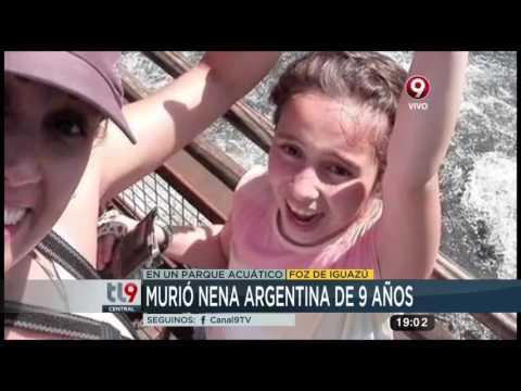 Nena argentina de 9 a�os muri� en Foz de Iguaz�