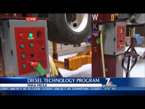 Miramar College Diesel Tech Program on NBC 7 02