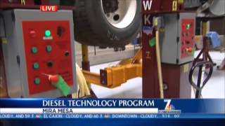 Miramar College Diesel Tech Program on NBC 7 02
