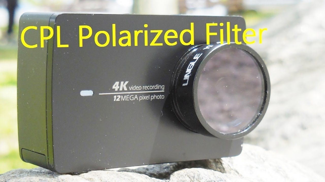 4k polarized filter for yi4k action camera outdoor test youtube