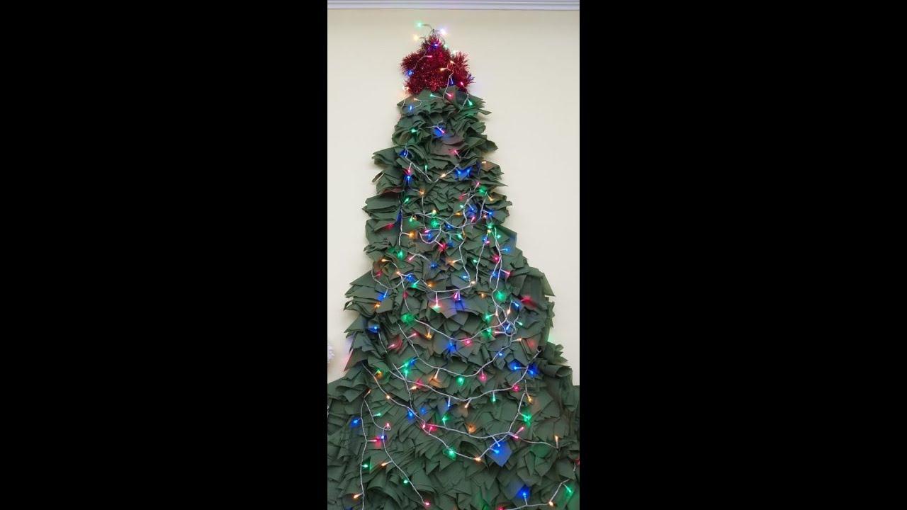 елка из салфеток на новый год своими руками - YouTube