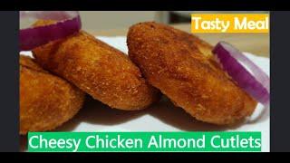 Cheesy Chicken Almond Cutlets - Ramadan Specials