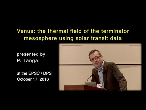 Venus: the thermal field of the terminator mesosphere using solar transit data