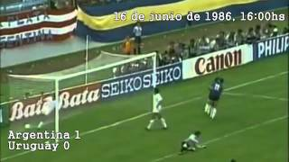 todos los goles de Argentina en Mexico86 relatados por Victor Hugo Morales