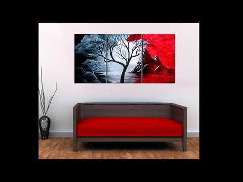 Modern Abstract Painting Wall Decor Landscape Canvas Wall Art 3 Piece