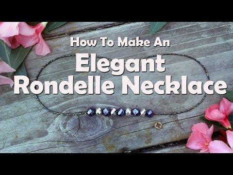 Elegant Crystal Rondelle Necklace: Easy Jewelry Tutorial