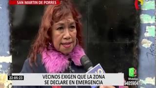 SMP: vecinos exigen que urbanización Fiori sea declarada en emergencia