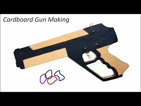 DIY cardboard Gun That Shoots - Easy Cardboard Rubber Band Gun