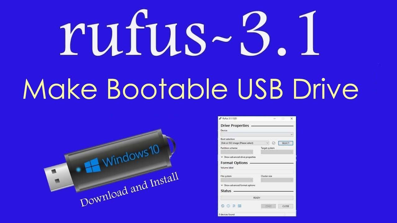 bootable usb stick windows 7 rufus