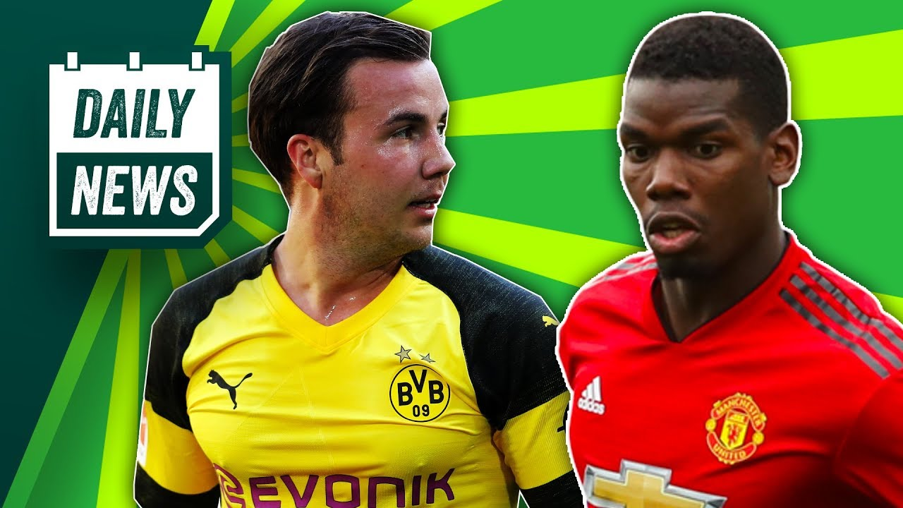 Mario Gotze to Liverpool + Paul Pogba Shoots on Manchester United ► Daily Football News