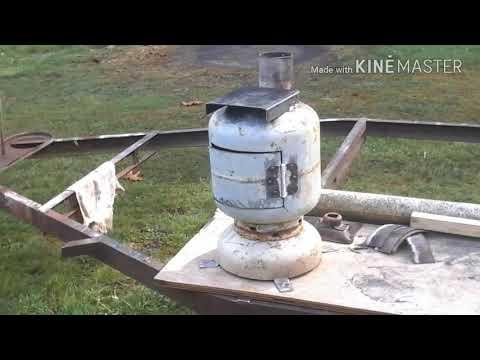 Diy propane tank wood stove.